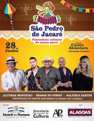 Alcimar Monteiro,  Brasas do Forró e Walkíria Santos são as atrações do São Pedro em Jacaré dos Homens/AL