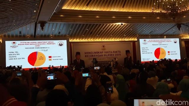 Gak Jadi 62%, BPN Kini Klaim Prabowo Menang 54,24%