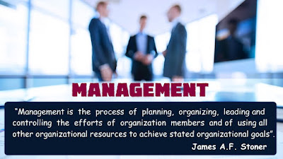 Meaning of Management, Management Definition, James A F Stoner