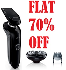 Flat 70% Off – Philips Rq310/30 – Click & Style Dry Electric Shaver With Trimmer for Rs.1198 Only @ Jabong