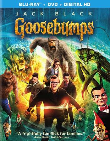 Poster Of Goosebumps 2015 Multi Audio 720p BRRip ORG [Hindi - English - Tamil] Free Download Watch Online