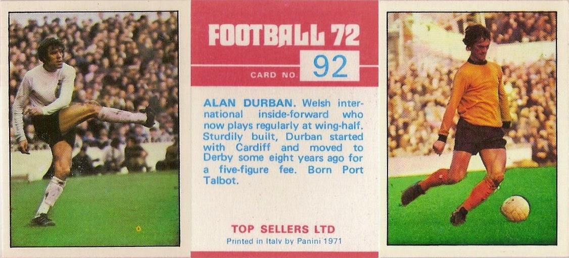 # 122 Colin Addison Derby Panini Football 80