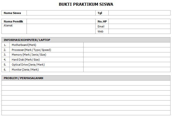 Format Laporan Praktikum Perakitan Komputer Tkj Labschool Pekanbaru