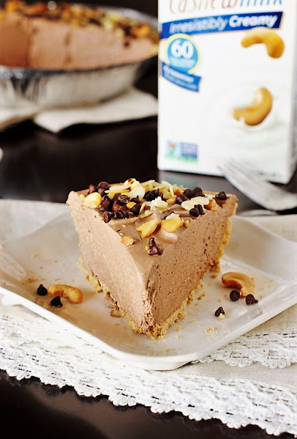 Chocolate Mousse Pie with Cashew Milk or Almond Milk Image