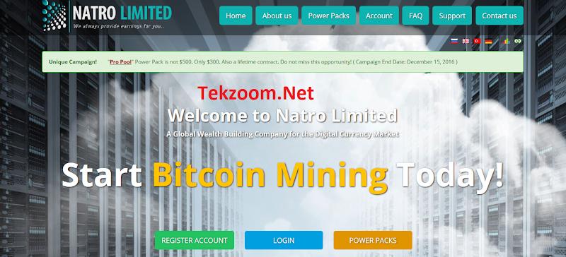 [SCAM] Review NatroLimited [Mining BTC] - Lãi 1.3%-2% hằng ngày cho 200 ngày - Đầu tư tối thiểu 10$ - Thanh toán tự động