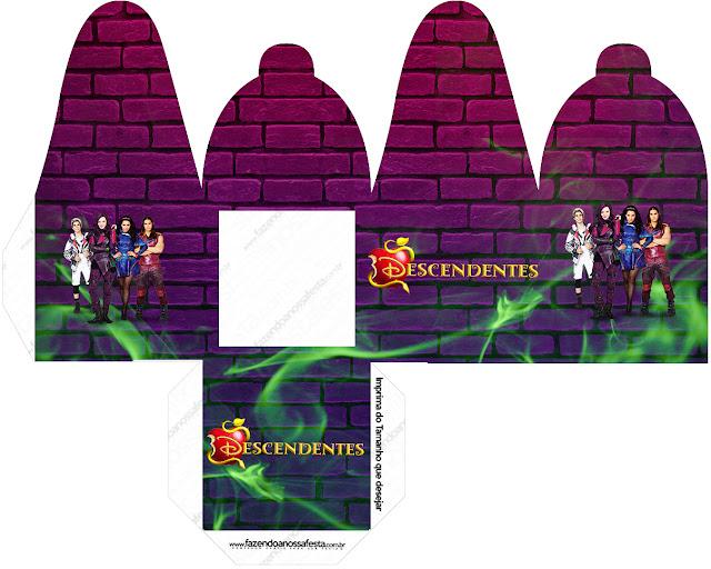 Cajas de Fiesta de Descencientes para imprimir gratis.