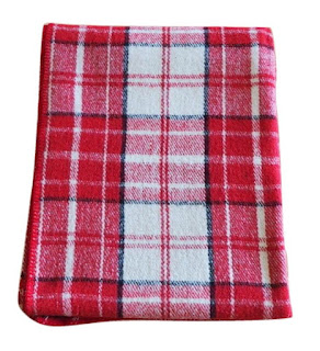 Red Plaid Wool Blanket