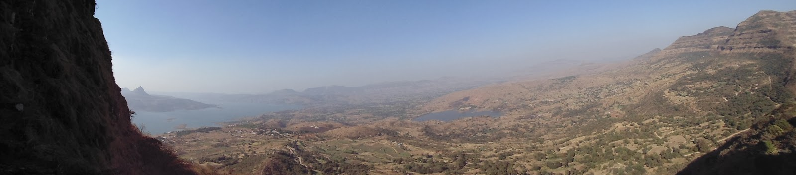 A panorama shot at Tikona fort