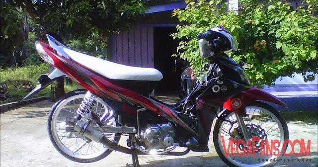 Jupiter Z New Merah Hitam Modif Simple Ceper