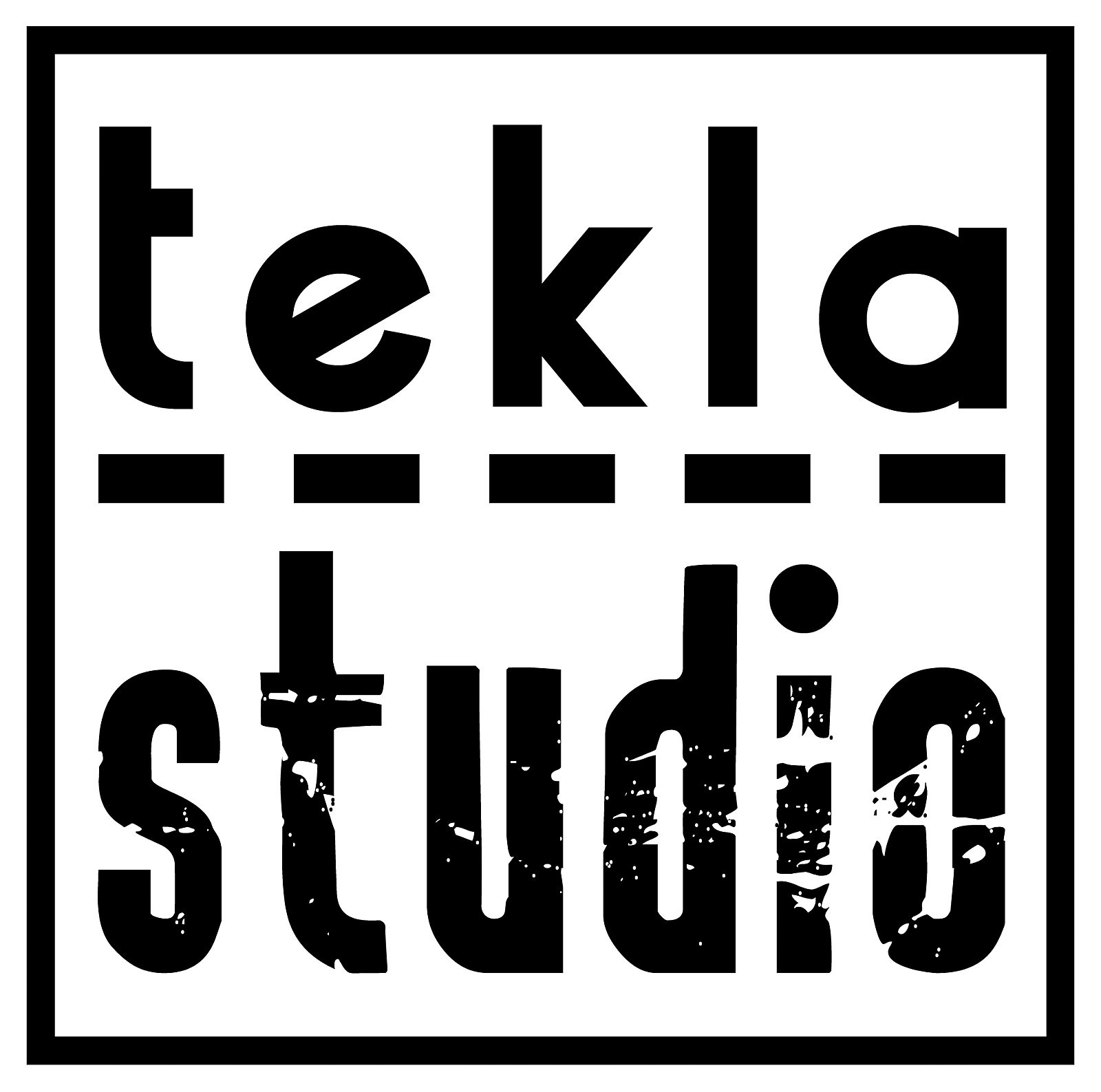 Logo dla firmy Tekla Studio. Grafika, logo, logotyp, identyfikacja wizualna