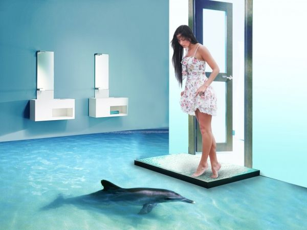 3D bathroom flooring fantasy