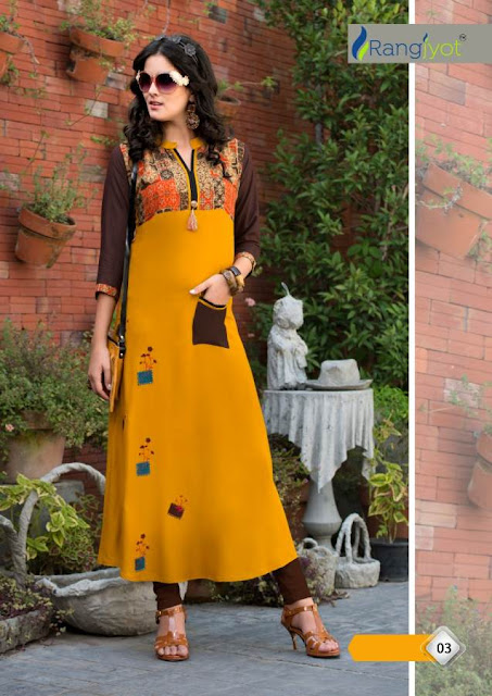 Rangjyot Keshvi vol 1 Party wear kurtis wholesaler