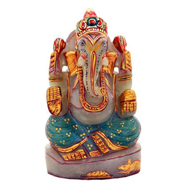 Velvetcase.com- Jade Mighty Ganesha Idol - Price 2989 on Ganesha Chaturthi