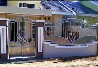 desain pagar stenlis rumah minimalis