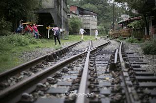 平渓線「菁桐駅」の様子