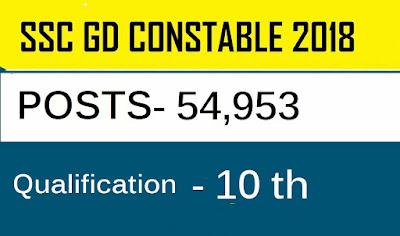 ssc gd constable examination 2018