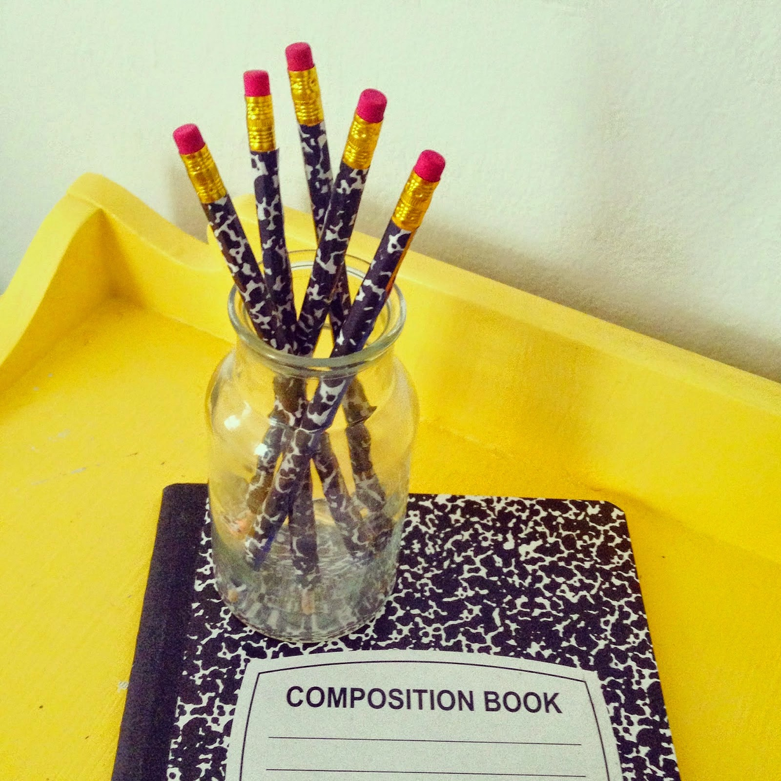 Composition Notebook Pencils