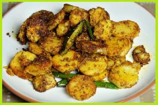 Arbi ki Sukhi Sabji Recipe