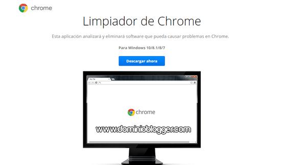 Herramienta Limpiador de Chrome gratis