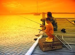 Image overview: Fishing is favored by more and more people.