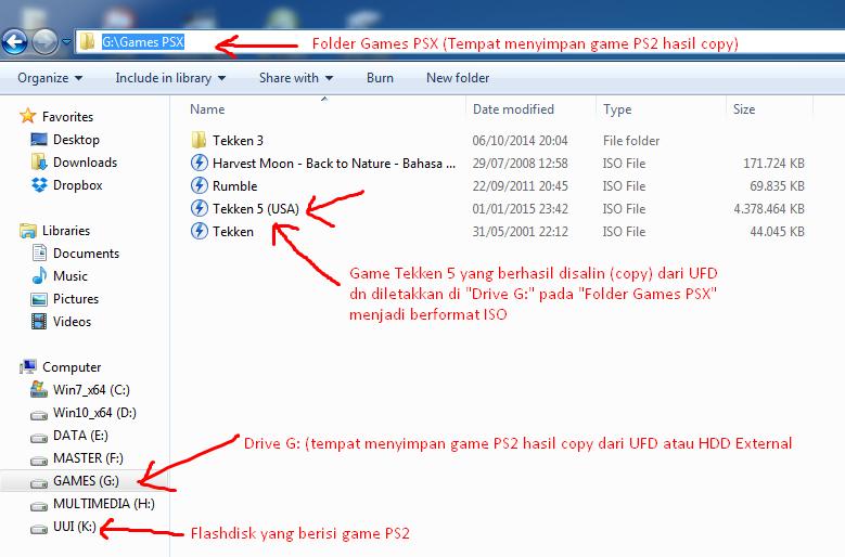 Game PS2 yang berhasil disalin akan berformat ISO
