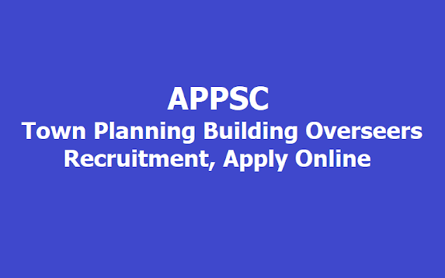 APPSC TPBO Town Planning Building Overseers
