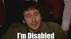 Roy pretending to be disabled