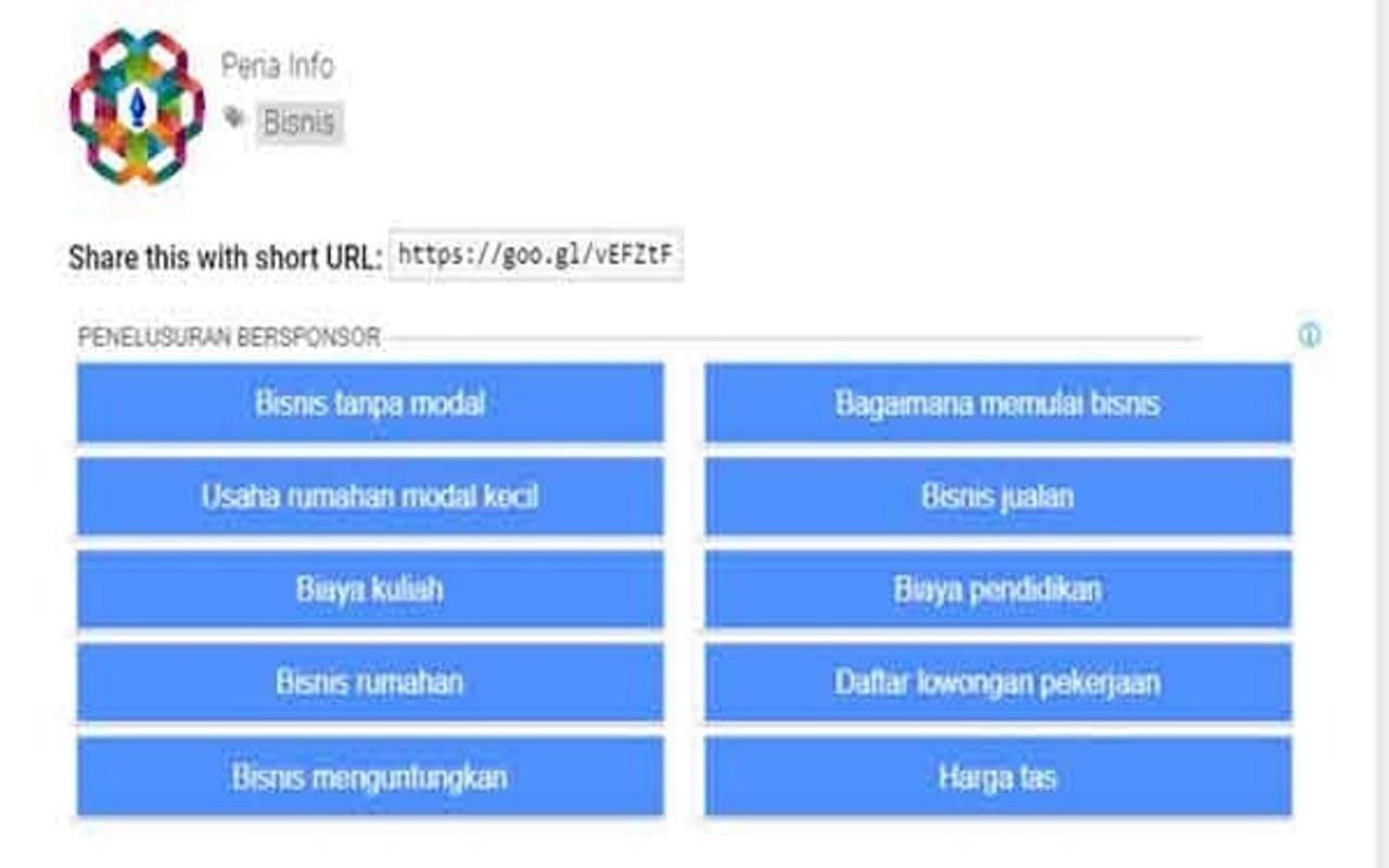 Membuat Unit Iklan Link Adsense Dengan 10 Tombol