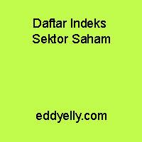Daftar Indeks Sektor Saham