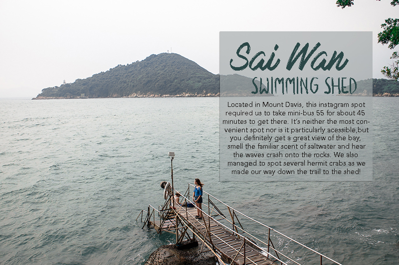 Sai wan swimming shed location and view