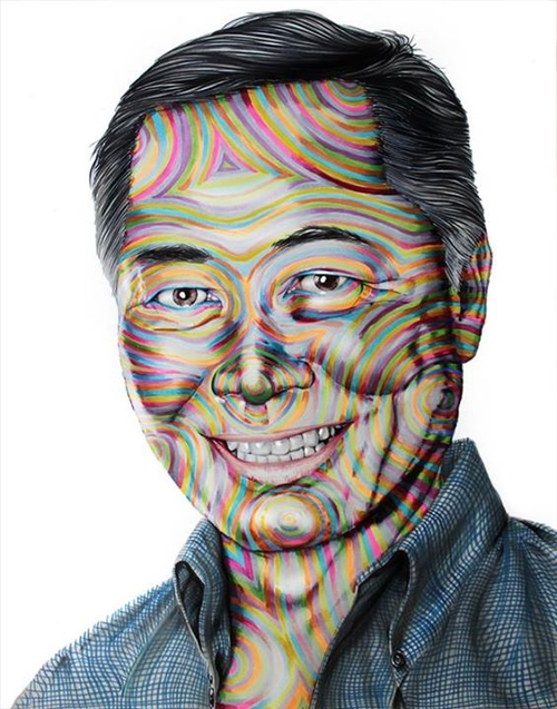 11-George-Takei-Star-Trek-Joshua-Roman-Rainbow-Portraits-Drawings-Illustrations-www-designstack-co