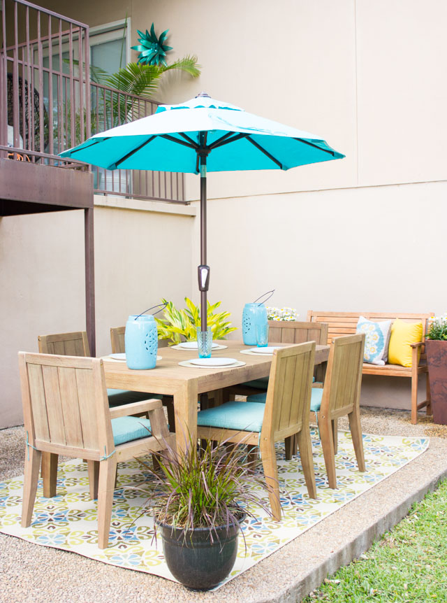 Outdoor patio makeover - check out the dramatic before and after!