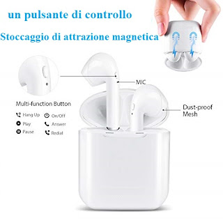 auricolare bluetooth 4.2 mini i8 tws