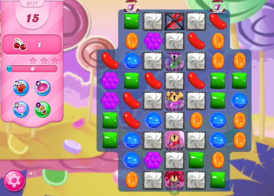 Candy Crush Saga level 3117