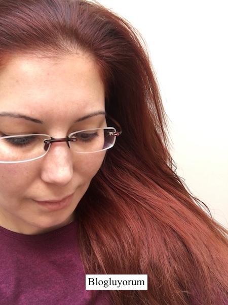 garnier 6.46 yoğun bakır kahve saç boyası ile saç boyama sonrası