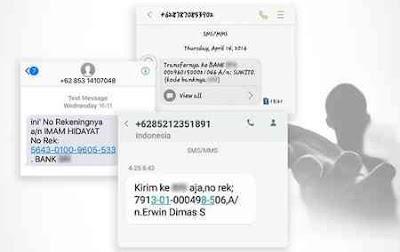 Laporkan Nomor Rekening SMS Penipuan ke OJK