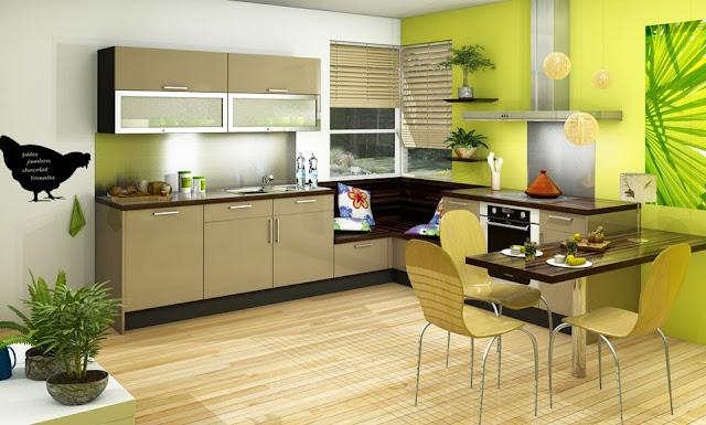 cuisine vert. Black Bedroom Furniture Sets. Home Design Ideas
