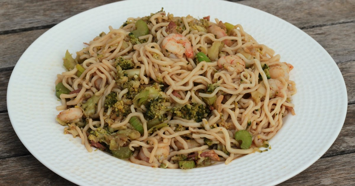 Cocina con clau espagueti con gambas y br coli for Cocinar konjac