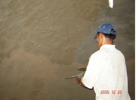 Plastering of Digester and Gas Holder