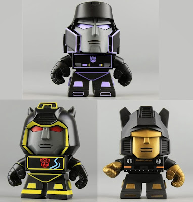 Transformers Mini Figure Series 1 Mystery Chase Variant 3 Inch Vinyl Figures by The Loyal Subjects - Megatron, Bumblebee & Jazz