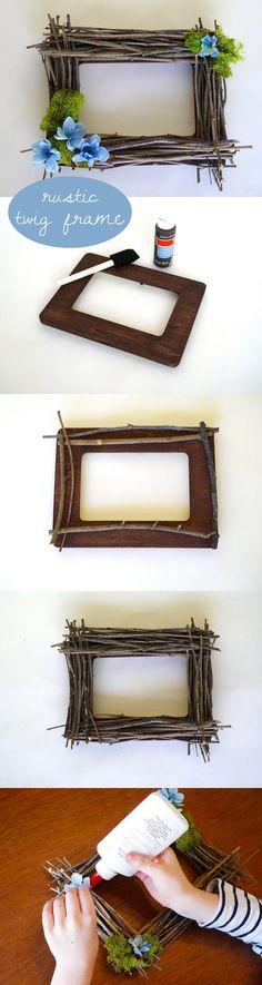 กรอบรูป DIY จากกิ่งไม้