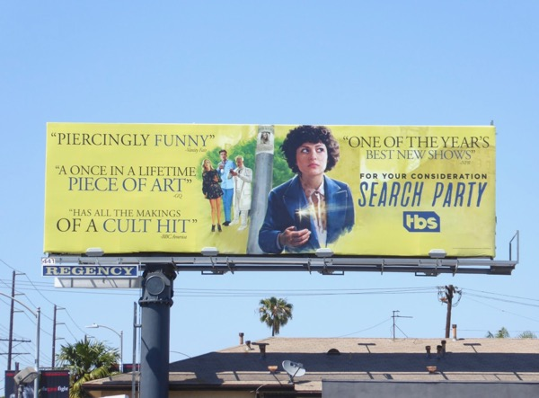 Search Party season 1 Emmy billboard