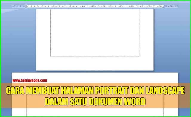 membuat halaman portrait dan landscape dalam satu file word