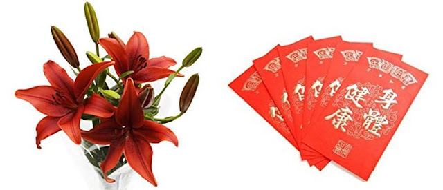 Red Lilies and Lai See