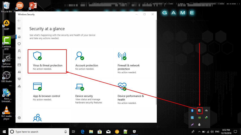 cara menonaktifkan antivirus windows 10