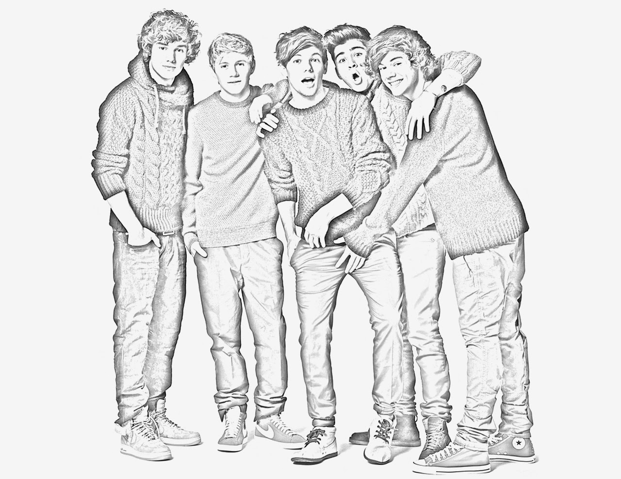 1d Fan Page One Direction Coloring Pages