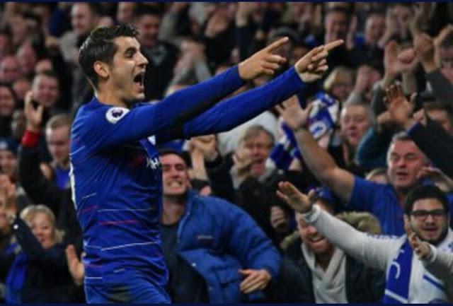 Alvaro Morata Chelsea 3 - 1 Crystal Palace (Premier League)