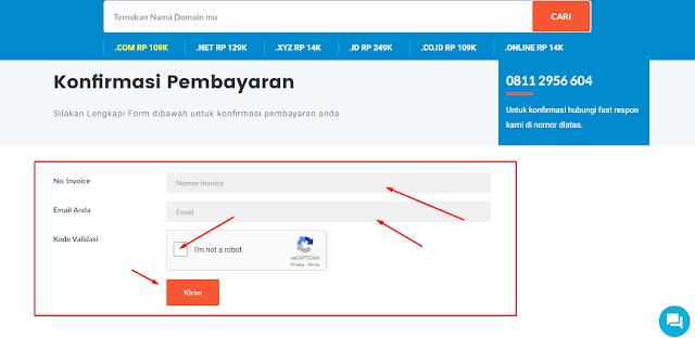 Cara Order Domain di IDwebhost