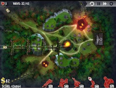 轟炸機防禦戰(iBomber Defense),很特別的塔防防守遊戲!