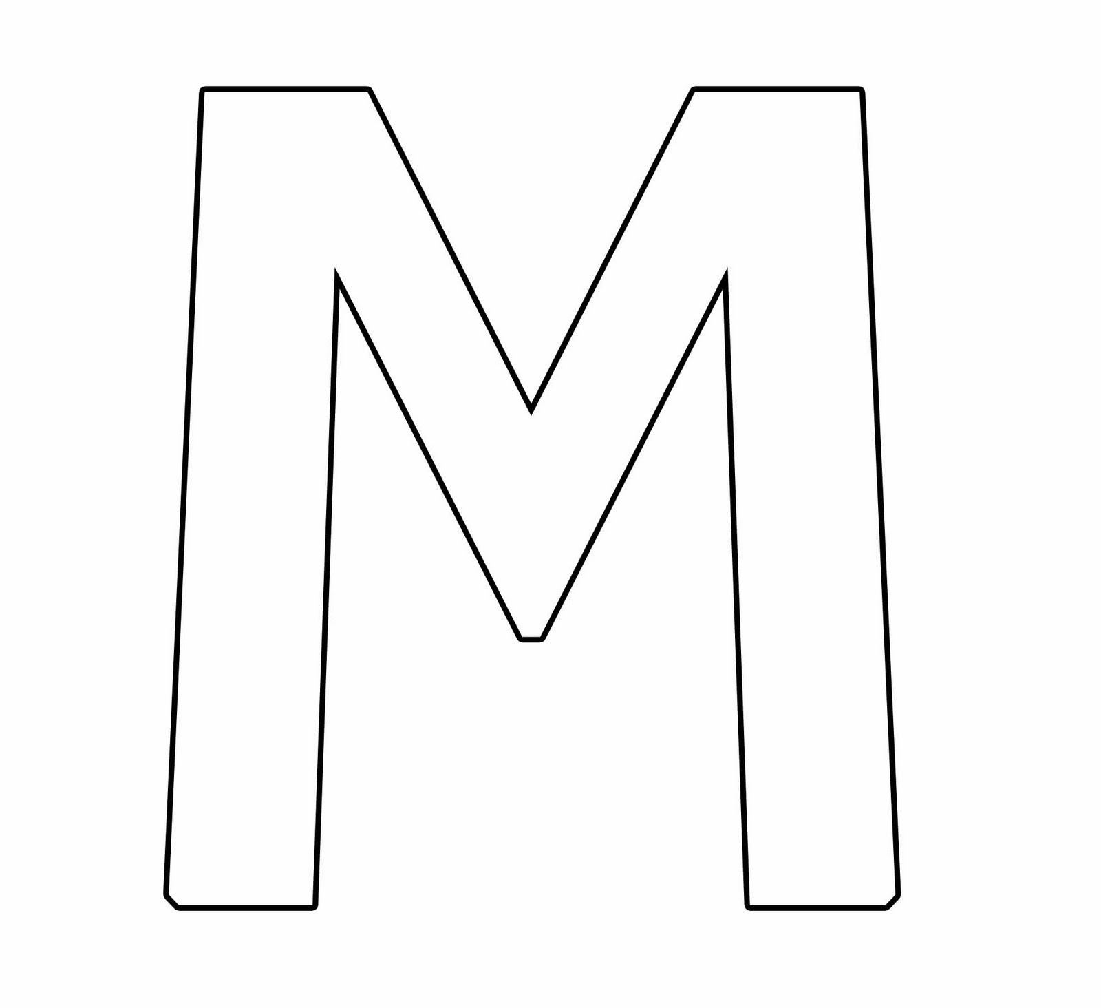 Letra M Mayuscula Para Colorear Fichas De La Letra M